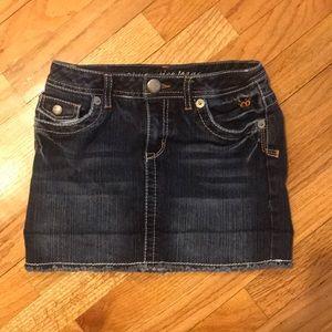 Trendy girls denim skirt